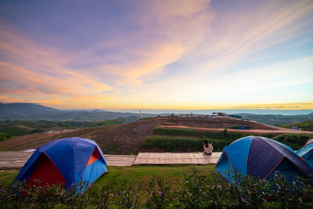 Landscapes camping scenery.