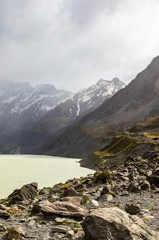 南島フッカー湖南島ニュージーランドの風景