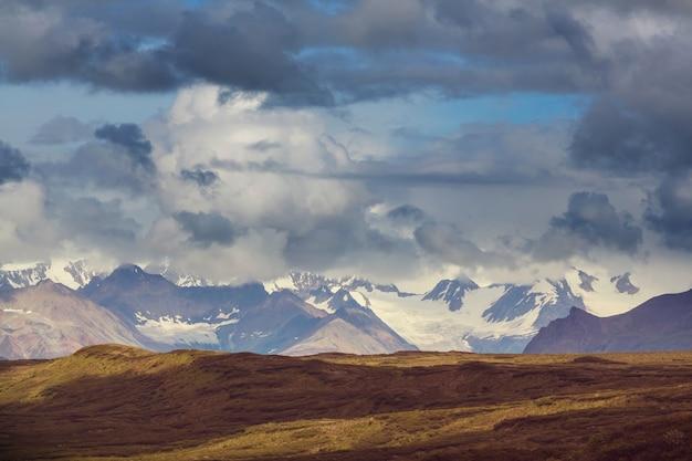 アラスカ州デナリハイウェイの風景。