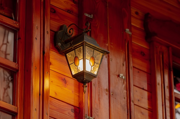 Lantern on christmas market in wroclaw, poland