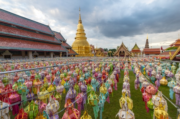 Lantern festival in the north of thailand