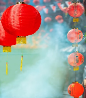 Lanterns in chinese new year day festival