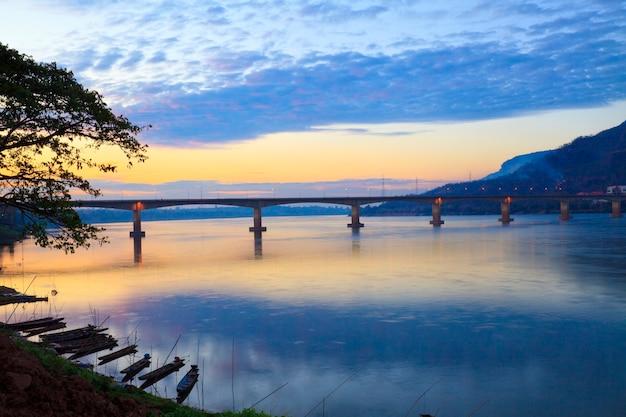 Lao –japanese bridge across the mekong