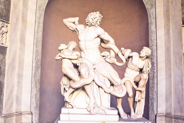 Laocoon statue in rome