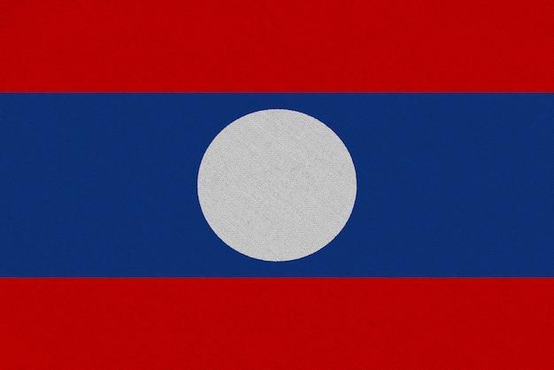 Laos fabric flag