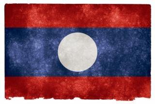 Laos grunge flag  laotian