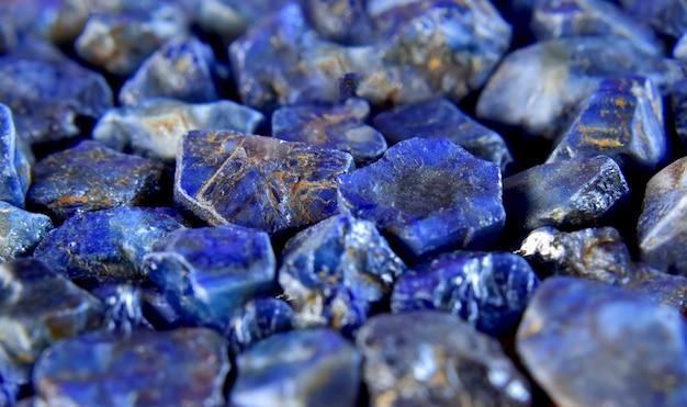 Лазурит лазурь синий камень красивый от природы для изготовления украшений