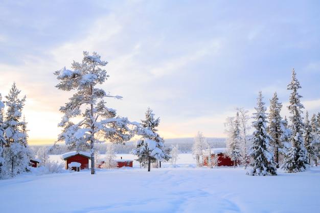 ラップランド冬の風景スウェーデン