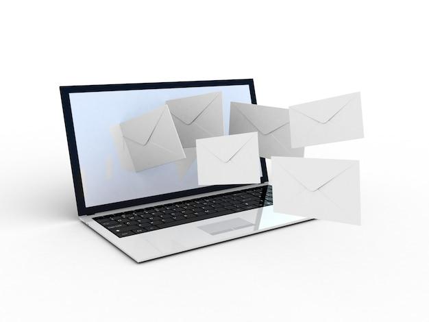 Ноутбук и летные конверты Premium Фотографии