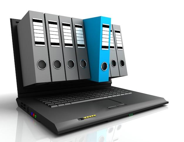노트북 및 폴더
