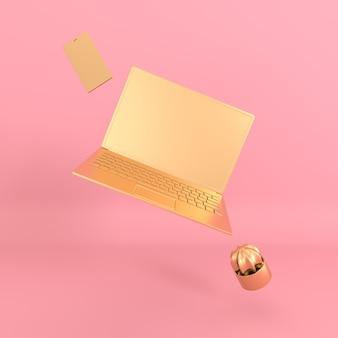 Фон макета ноутбука и телефона