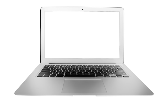 흰색 절연 노트북 컴퓨터