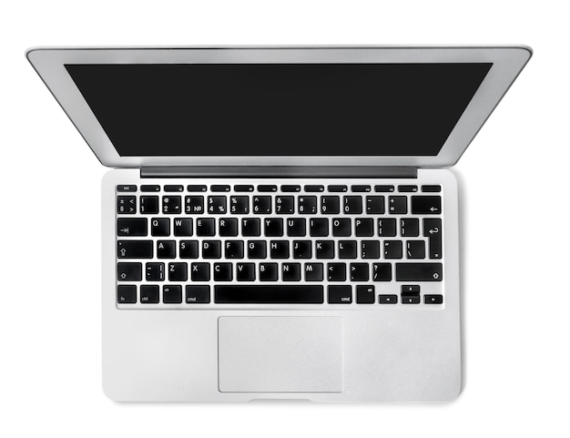 Laptop computer pc on white background