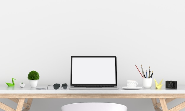 Laptop display for mockup