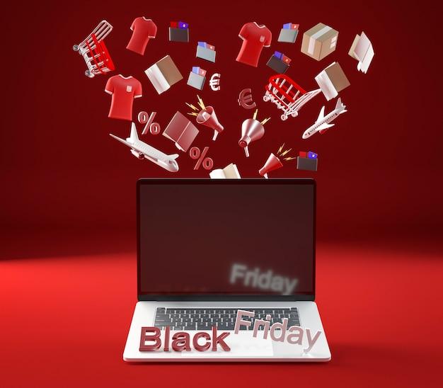 블랙 프라이데이 쇼핑 세션 용 노트북