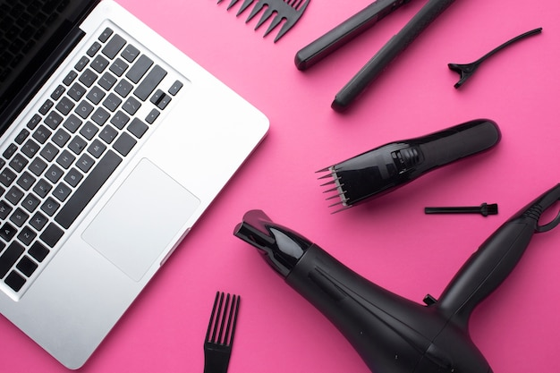 Laptop and hair equipment