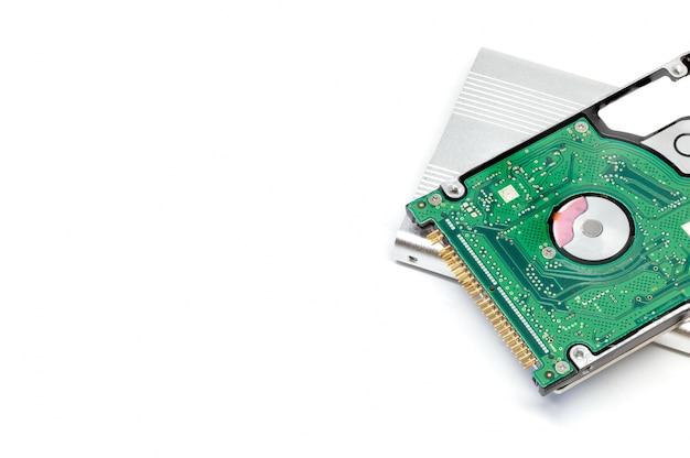 ラップトップハードディスク白い背景