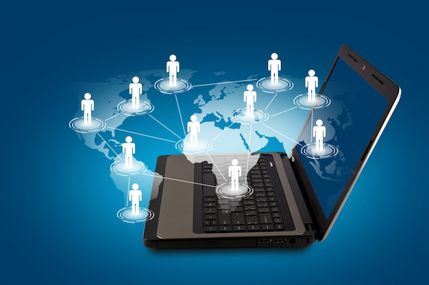 사람들의 세계가 그려지는 노트북