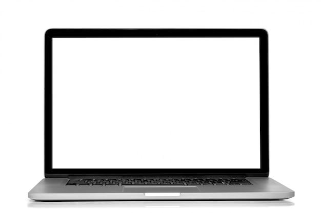 白い背景で隔離のラップトップ