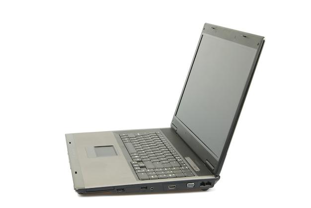 흰색, 클리핑 경로 포함 절연 노트북