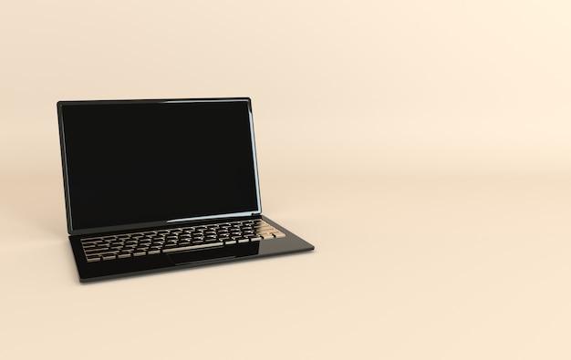Макет ноутбука в современном минималистском стиле