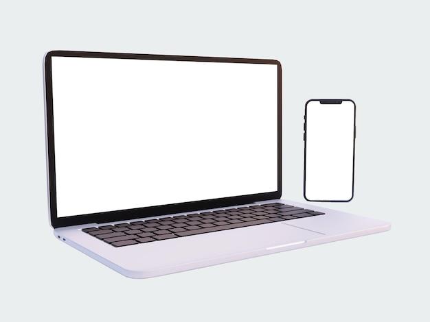 ノートパソコン、画面が空白の電話