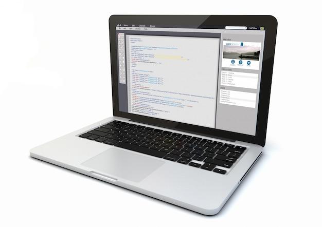 Laptop web coding