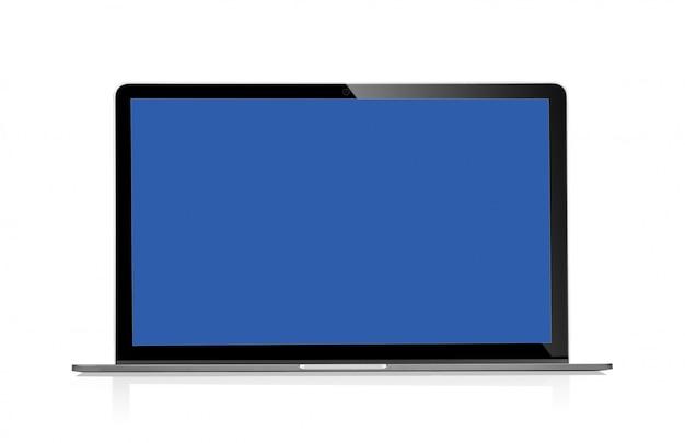 Ноутбук с пустым пространством на белом фоне