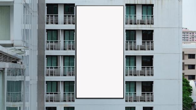 Large billboard on modern building wall, mock up