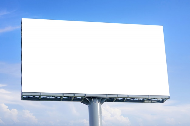 Large blank billboard with empty screen for advertising poster.