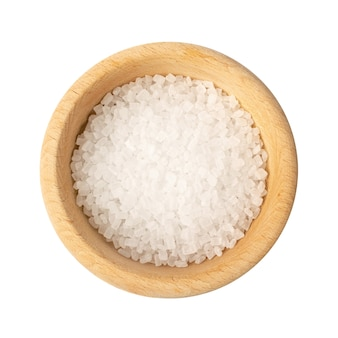 分離されたボウルの砂糖の大きな結晶