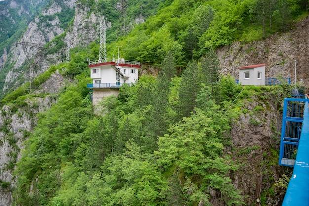Large dam mratinein the north of montenegro