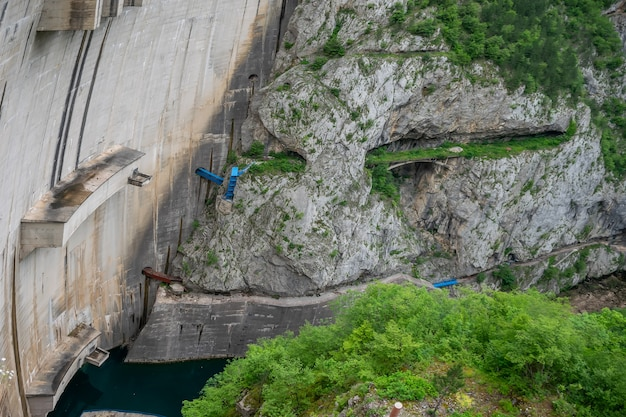 Large dam in the north of montenegro