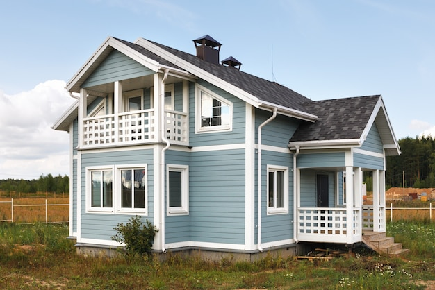 시골 지역의 대가족 주택.