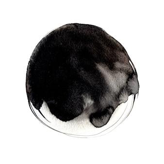 Большое пятно чернил с текстурой краски, изолированные на белом фоне