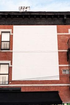 Large mock-up billboard on a building