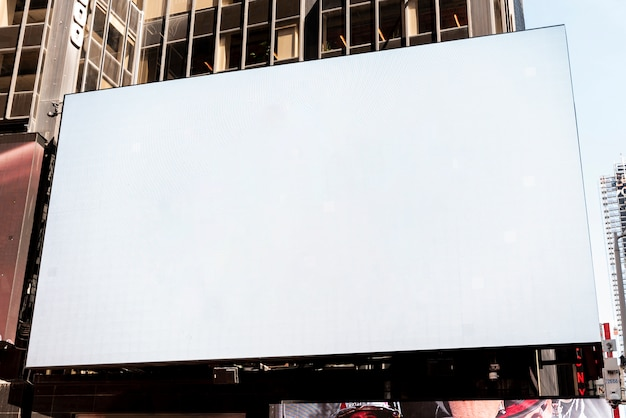 Large mock-up billboard in city scape