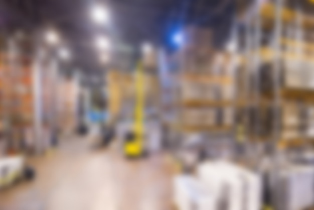 Large modern warehouse theme blur background