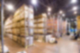 Large modern warehouse theme blur background