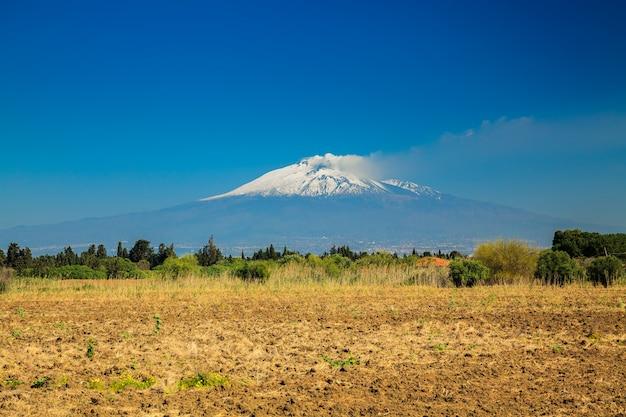 Большая гора этна
