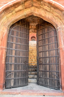 Large old wooden gate doors