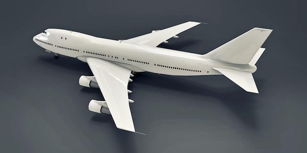 긴 대서양 횡단 비행기 3d 그림을 위한 대용량의 대형 여객기
