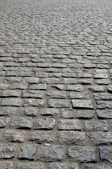 Large platform of paving stone in perspective