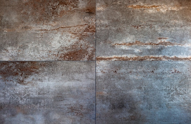 Large porcelain stoneware tiles for coverings, rust style.