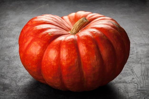 Large pumpkin on black