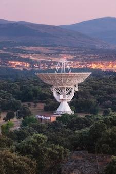 Large radio telescope antenna dish