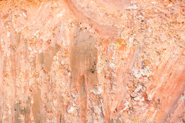 Large size square concrete manhtrace of laterite after dig by excavator background texture