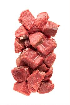 붉은 고기 쇠고기 또는 돼지 고기의 큰 조각으로 요리 또는 다이아인 포장 재료의 일부