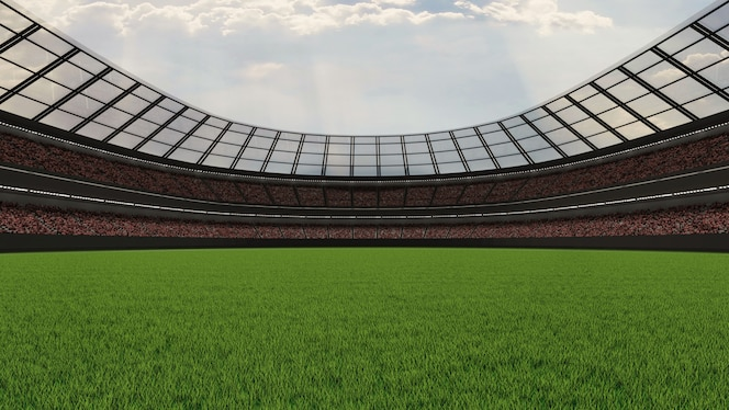 Large soccer stadium