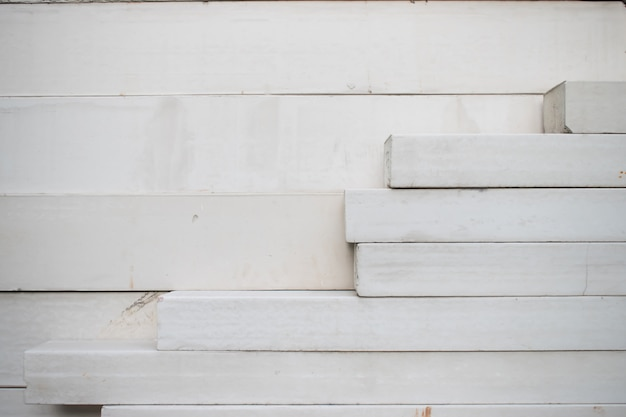 Large stack of white concrete.